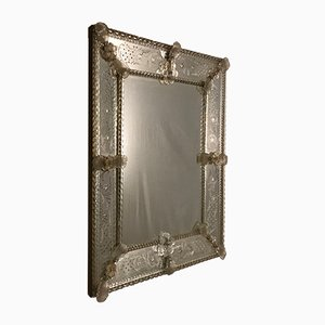 Vintage Murano Glass Mirror, 1930s