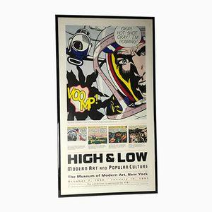 Affiche High & Low par Roy Lichtenstein, 1990