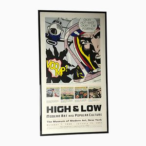 Poster High & Low di Roy Lichtenstein, 1990