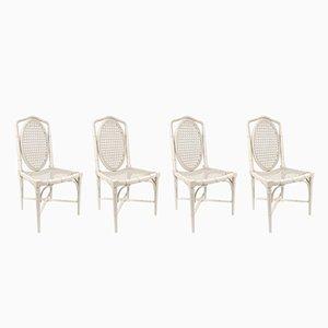 Chaises de Salon en Faux Bambou, 1970s, Set de 4