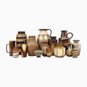 Vasi vintage in ceramica, set di 15