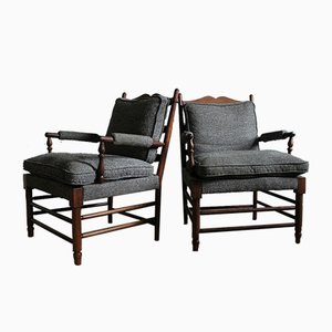Swedish Rosewood Gripsholm Armchairs, 1950s, Set of 2