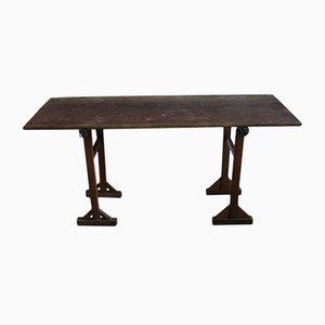 Mesa antigua de pino con caballete