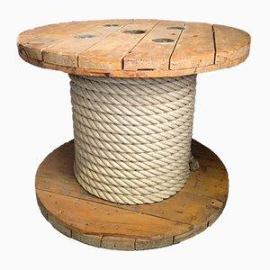 Tavolino da caffè Spool in legno, anni '80