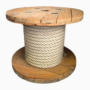 Wooden Spool Coffee Table, 1980s