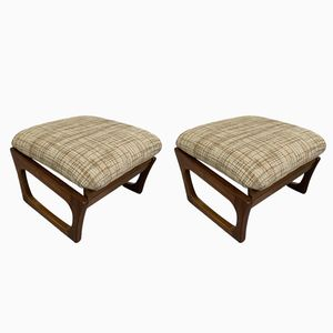 Mid-Century Foot Stools, 1970s, Set of 2