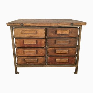 Vintage Industrial Chest of Drawers, 1950s