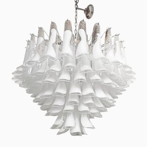 Murano Glass White Selle Sputnik Chandelier from Italian light design