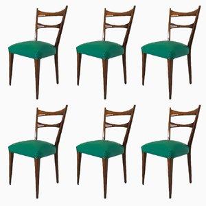 Chaises de Salle à Manger, Italie, 1950s, Set de 6