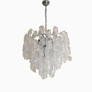 Lámpara de araña de cristal de Murano en espiral de Italian light design