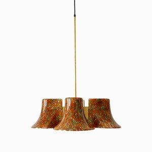 Lámpara colgante Mid-Century de Peill & Putzler, años 70