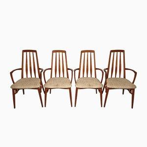 Vintage Eva Chairs aus Teak von Niels Koefoed für Koefoeds Hornslet, 1960er, 4er Set