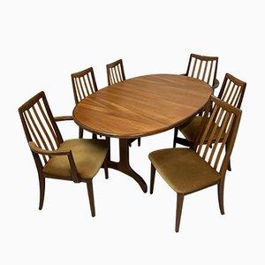 Tavolo da pranzo con sei sedie di G-Plan