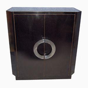 Vintage Black Lacquered TV Cabinet