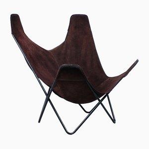 Hammock Sling Sessel aus Wildleder von Jorge Ferrari-Hardoy für Knoll, 1950er
