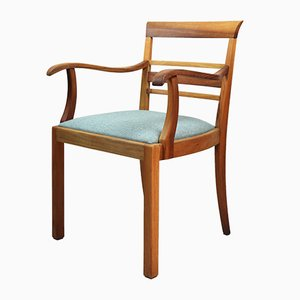 Vintage Turquoise Walnut Chair, 1960s