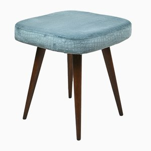 Vintage Light Blue Stool, 1970s