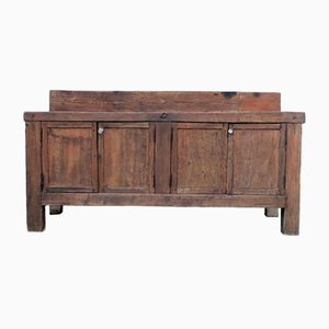 Vintage Butcher Table with Storage Compartments, 1920s