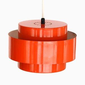 Lampada Juno rossa di Jo Hammerborg per Fog & Morup, anni '60