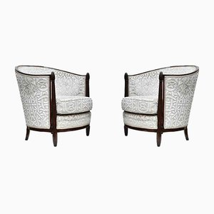 Art Deco Club Chairs by Paul Follot, 1920s, Set of 2
