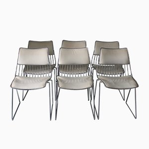 Wire Chairs by Rudi Verelst for Novalux, 1970s, Set of 6