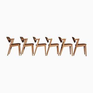 Chaises de Salon Modèle 42 Vintage en Chêne par Kai Kristiansen pour Schou Andersen, Set de 6