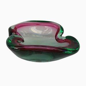 Cenicero Mid-Century de cristal de Murano, años 50
