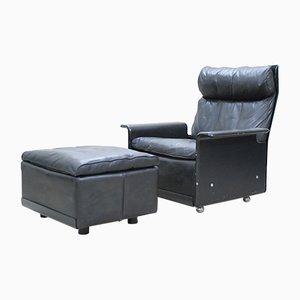Vintage Modell 620 Sessel & Fußhocker von Dieter Rams für Vitsoe