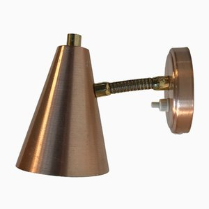 Mid-Century Copper & Brass Wall Light from E.S. Horn, 1960s