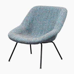 Vintage Upholstered Fiberglass Chair, 1950s