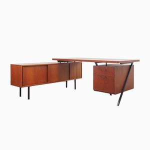 Vintage L-Shaped Teak Desk, 1960s