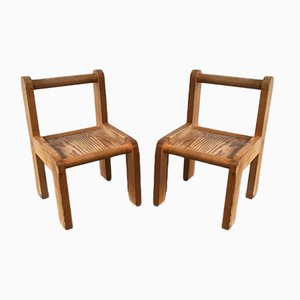 Children's Chairs by Svend Langkilde, 1970s, Set of 2