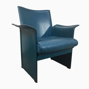 Leather Korium Armchair by Tito Agnoli for Matteo Grassi, 1970s
