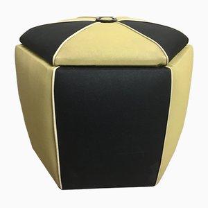Puf modelo Juno italiano vintage octagonal de Astor, años 70