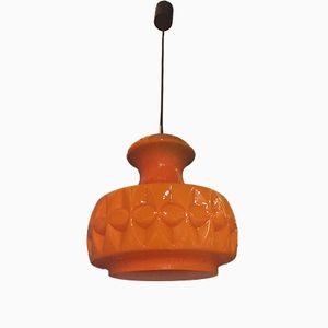 Deckenlampe aus Glas von Peill & Putzler, 1960er
