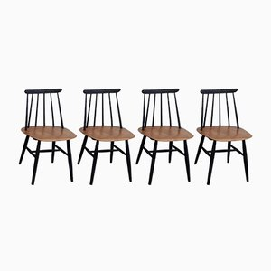 Fanett Dining Chairs by Ilmari Tapiovaara for Edsby Verken, Set of 4