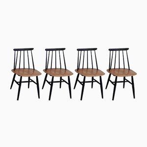 Fanett Esszimmerstühle von Ilmari Tapiovaara für Edsby Verken, 4er Set