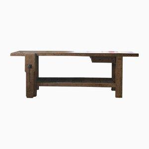 Mesa de trabajo vintage de madera