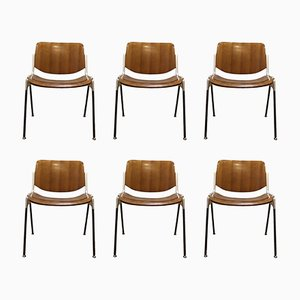 Chaises N°106 Modernes Mid-Century par Giancarlo Piretti pour Castelli, 1967, Set de 6