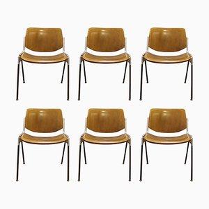 Chaises N°106 Mid-Century par Giancarlo Piretti pour Castelli, 1970s, Set de 6