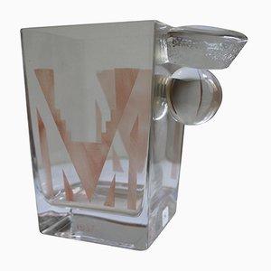 Kubistische Art Deco Vase von A. Riecke, 1937