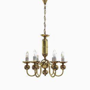 Lámpara de araña Mid-Century con seis luces de Kamenický Šenov
