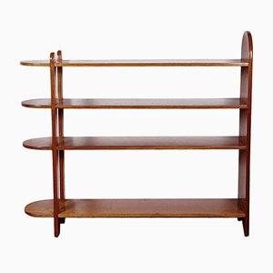 Vintage Art Deco Mahogany Shelf or Bookcase by Eugène Printz, 1932
