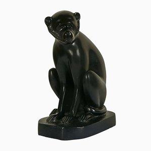 Escultura de mono vintage de bronce de David Mesly para Sarral Heiro