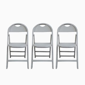 Folding Tric Chairs by Castiglioni brothers for Flos, 1970s, Set of 3