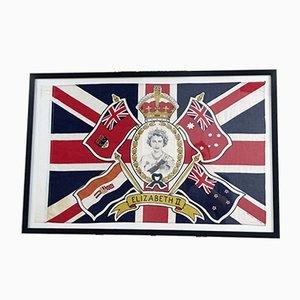 HRH Queen Elizabeth II Krönungsflagge, 1953