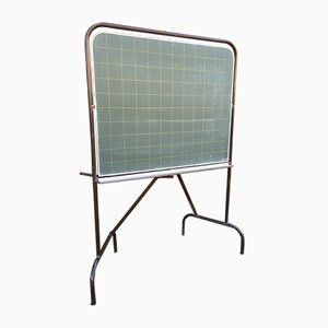Vintage French Blackboard with Metal Frame, 1970s