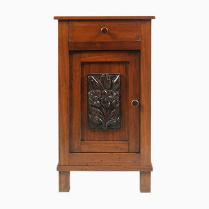 Art Nouveau Solid Pine Tyrolean Nightstand, 1890s
