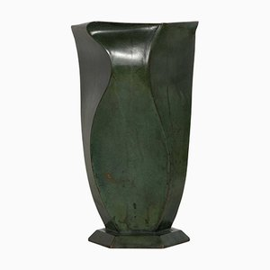 Art Deco Bronze Vase by Jean Dunand, 1920s