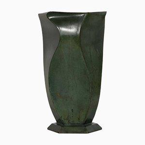 Art Deco Vase aus Bronze von Jean Dunand, 1920er